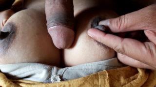 Diwali ke din mami ka boobs fucking